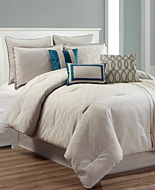 CLOSEOUT! Caspian 10-Pc. Queen Comforter Set