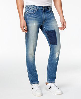 Sean John Men's Essex Slim-Fit Stretch Destroyed Jeans - Men - Macy's