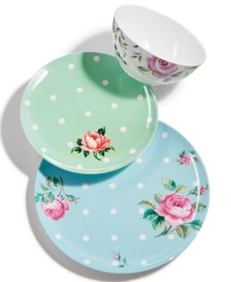 royal albert vintage mix picnic melamine dinnerware collection - Melamine Dishes