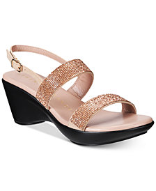Callisto Simion Embellished Wedge Sandals