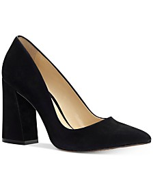 Vince Camuto Talise Pointed Block-Heel Pumps