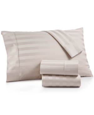 Aq Textiles Bergen Stripe 4Pc Full Sheet Set 1000 Thread Count 100 Certified Egyptian Cotton Bedding