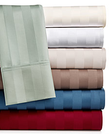 AQ Textiles Bergen Stripe  4-Pc. Sheet Sets, 1000 Thread Count 100% Certified Egyptian Cotton