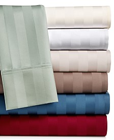 AQ Textiles Bergen Stripe  4-Pc. Extra Deep Pocket Sheet Sets, 1000 Thread Count 100% Certified Egyptian Cotton