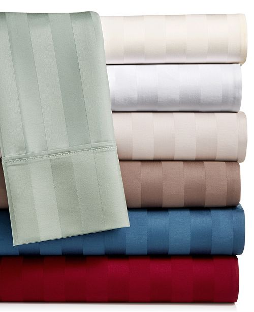 Aq Textiles Bergen Stripe 4 Pc Sheet Sets 1000 Thread Count 100
