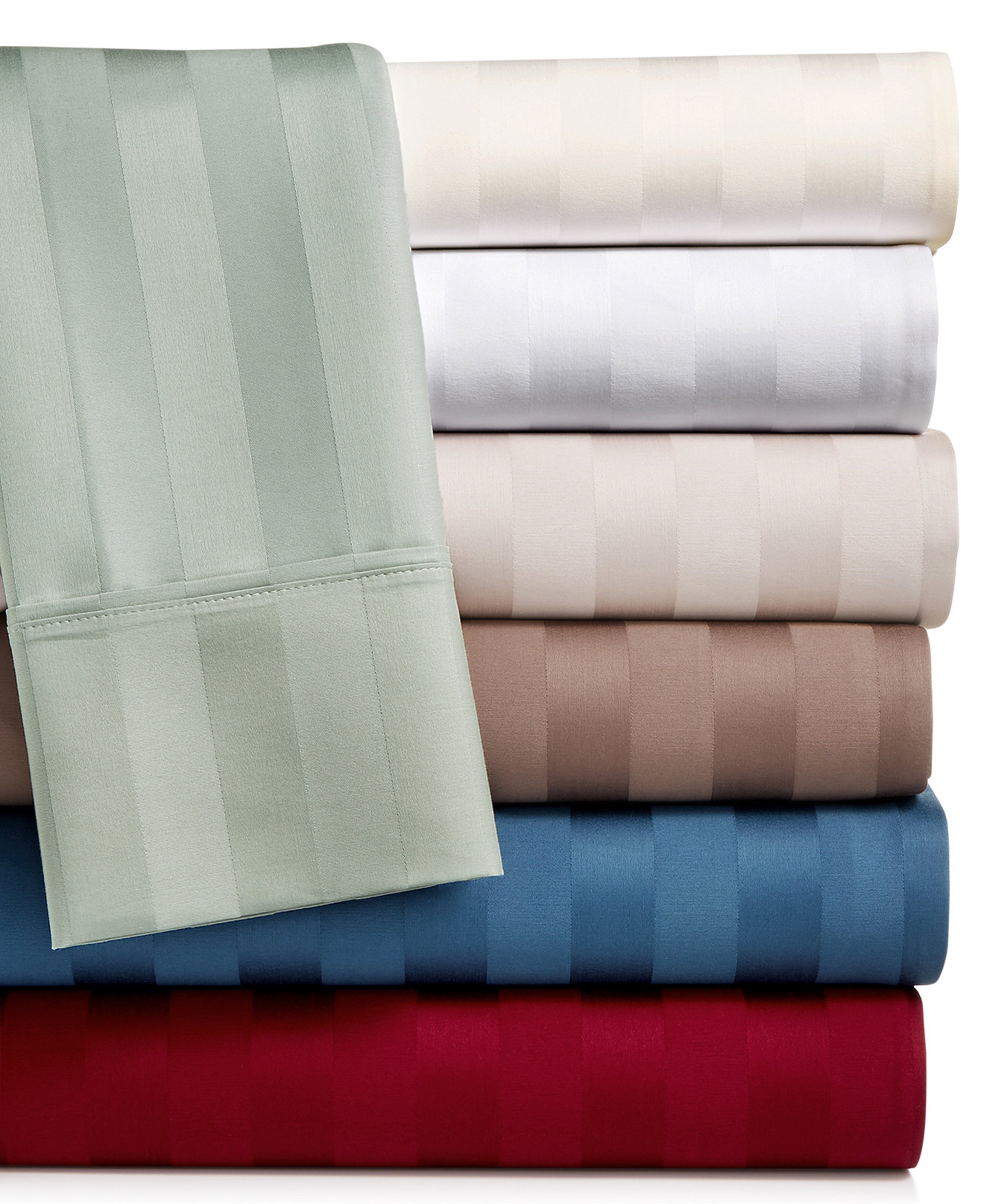 bed sheets  macy's - aq textiles bergen stripe certified egyptian cotton thread count pcextra