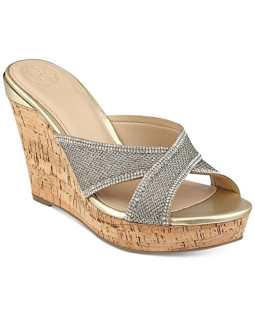0d327f9b981 GUESS Eleonora Platform Wedge Slide Sandals   Reviews - Sandals ...