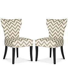 Pollack Set of 2 Dining Chairs, Quick Ship