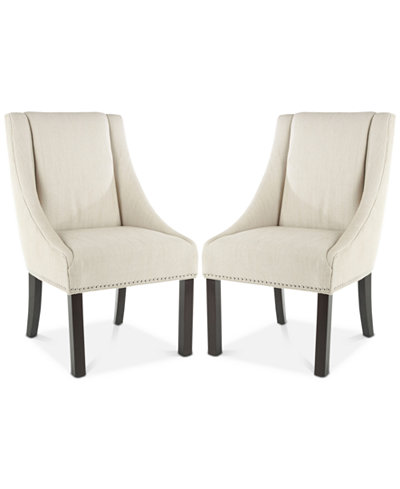 Colman Set of 2 Dining Chairs, Quick Ship