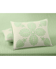 Martha Stewart Collection Maui Medallion Cotton Quilted Standard Sham, Created for Macy's