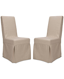 Borele Set of 2 Linen Dining Chairs, Quick Ship