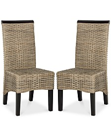 Sladen Set of 2 Wicker Dining Chairs, Quick Ship