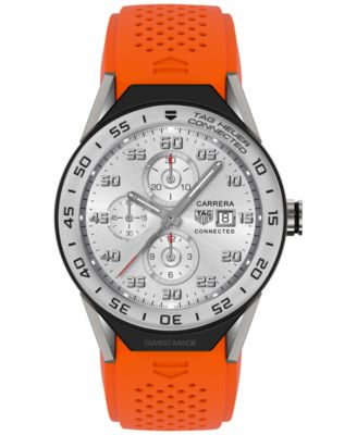 Modular Connected 2.0 Men's Swiss Orange Rubber Strap Smart Watch 45mm SBF8A8014.11FT6081