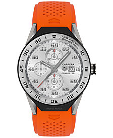 TAG Heuer Modular Connected 2.0 Men's Swiss Orange Rubber Strap Smart Watch 45mm SBF8A8014.11FT6081