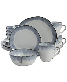 Gibson Elite Cezanne Blue 16-Piece Dinnerware Set
