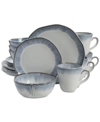 main image  sc 1 st  Macyu0027s & Gibson Elite Cezanne Blue 16-Piece Dinnerware Set - Dinnerware ...