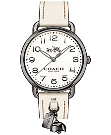 COACH Women's Delancey Chalk Leather Strap Watch 36mm  14502743