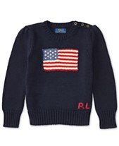 0d7d2cf02 Polo Ralph Lauren Little Girls American Flag Knit Cotton Sweater