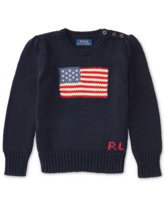 Polo Ralph Lauren. Ralph Lauren American Flag Knit Cotton Sweater, Toddler  Girls. 2 reviews. main image