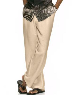 Linen Blend Drawstring Pants rRCWISpQ