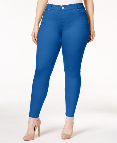 Celebrity Pink Trendy Plus Size Colored Wash Skinny Jeans - Jeans ...