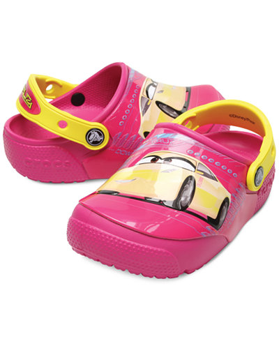 Crocs Fun Lab Lights Cars Clogs, Baby, Toddler & Little Girls