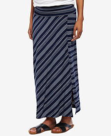 Motherhood Maternity Striped Midi Skirt