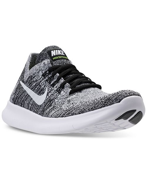 Nike Women S Free Run Flyknit 2017 Running Sneakers From Finish Line Reviews Finish Line Athletic Sneakers Shoes Macy S
