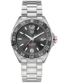 TAG Heuer Men's Swiss Automatic Formula 1 Stainless Steel Bracelet Watch 43mm WAZ2011.BA0842
