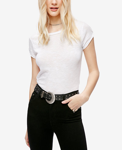 Free People Clare Cotton Crew-Neck T-Shirt