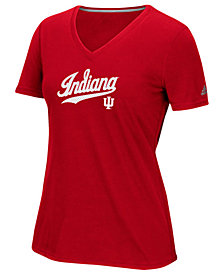 adidas Women's Indiana Hoosiers Lined Logo T-Shirt