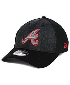 New Era Atlanta Braves Black Heathered 39THIRTY Cap