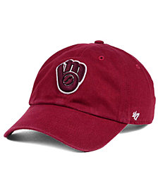 '47 Brand Milwaukee Brewers Cardinal and White Clean Up Cap