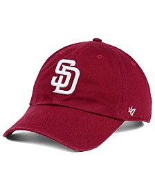 '47 Brand San Diego Padres Cardinal and White Clean Up Cap