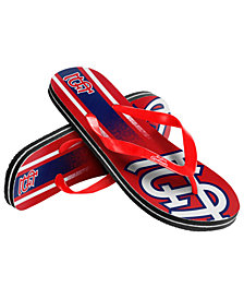 Forever Collectibles St. Louis Cardinals Gradient Big Logo Flip Flops