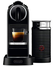 Nespresso by De'Longhi Black CitiZ&Milk Espresso Maker with built-in Aeroccino