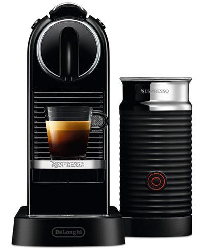 Nespresso CitiZ & Milk Espresso Maker by De'Longhi, Black