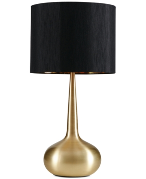 A classically designed and finished table lamp in a bright gold finish. The Spire table lamp is completed with a classic black shade will add sophistication to any room setting.