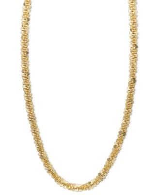 """14k Gold Necklace, 18"""" Faceted Chain (1-1/2mm)"""