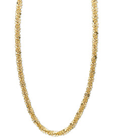 "14k Gold Necklace, 18"" Faceted Chain (1-1/2mm)"