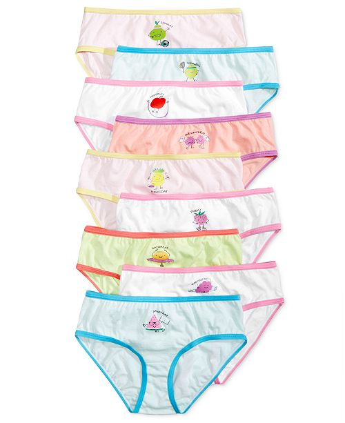 94989e2c7 Maidenform 9-Pk. Fruity Days of the Week Cotton Brief Underwear ...