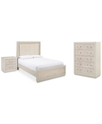 CLOSEOUT! Lyndon Bedroom Furniture Set, 3-Pc. Set (Queen Bed, Chest & Nightstand), Created for Macy's