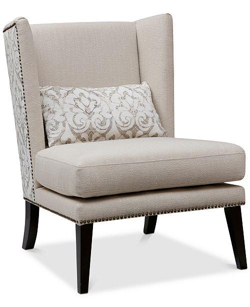BLUSH & BRASS Harvey Accent Chair, Quick Ship
