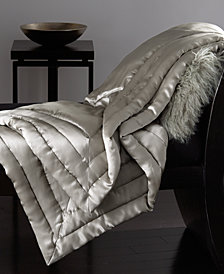 Donna Karan Silk Quilted Throw