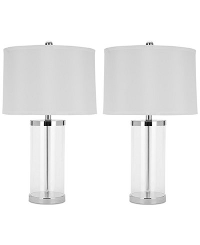Safavieh Set of 2 Jeanie Glass Table Lamps