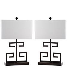 Safavieh Set of 2 Greek Key Table Lamps