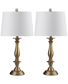 Safavieh Set of 2 Brighton Candlestick Table Lamp