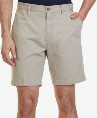 "Image of Nautica Men's Flat-Front Cotton 8 1/2"" Deck Shorts"