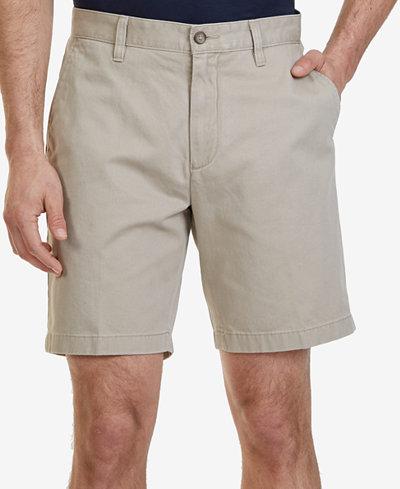 Nautica Men's Flat-Front Cotton 8 1/2