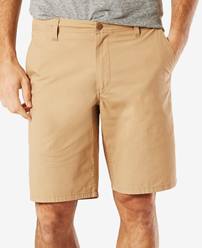 Dockers Men's Stretch Straight Fit Flat-Front 9 Shorts D2